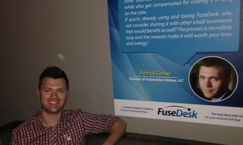 Patrick at FuseDesk event